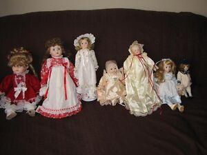 Collection de Poupées en porcelaine / Porcelain dolls collection
