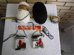 2 petits sac bourse Alpaca du Pérou + 5 purses thai cuir