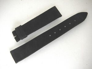 Original Vintage Vacheron & Constantin Black Suede Watch Band Strap 18mm Men's