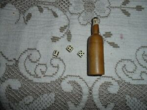 Mini Dice in a Very Mini Whiskey Bottle