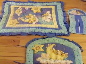 Crib Bedding Set- 6 Pieces- gender neutral- Like New!!