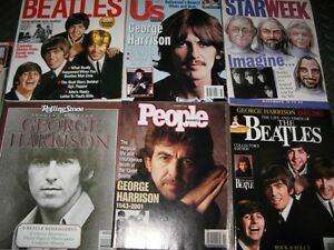 Beatles Magazines Including George Harrison Editions