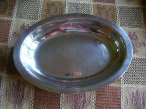Oval Silver Plate Dish