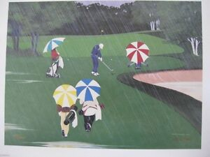 """SWINGIN IN THE RAIN"" Limited Edition Print Kawartha Lakes Peterborough Area image 1"