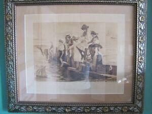 Children Fishing Picture...  now reduced for quick sale!!! Oakville / Halton Region Toronto (GTA) image 1