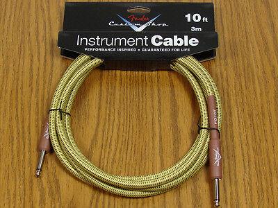 Fender Custom Shop 10' Tweed Cord Cable Guitar & Bass Strat Tele