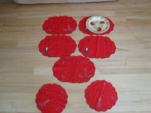 Christmas Cotton Placemat Set - 7 Pieces Kitchener / Waterloo Kitchener Area image 2