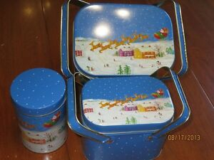 Christmas Tins, Trays and Candles