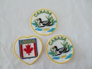 3 Iron on Canada patches