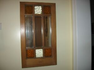 VINTAGE ,ANTIQUE STAIN GLASS MIRROR