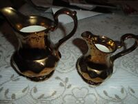 Wade Pottery Sugar Dish and Creamer