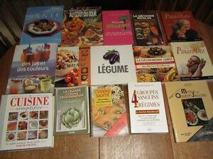 livres de recettes VARIES / Certains  ÉPUISÉS  / je poste