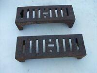 2 Antique cast Iron brick vents
