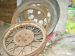 MODEL A RIMS, TRANS, BELL HOUSING, AND REAR END ASSEMBLY