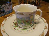 Bunnykins  Plate and mug  60th anniversary