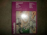 Peugeot 504 1968-1976 1.8L &  2.0L  Repair Shop Manual