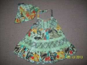 CP Halter Dress with matching hat