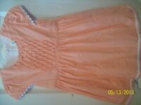 CP Orange and White Dress with Shrug
