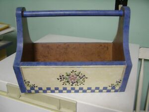 Tole Painted Knitting Basket