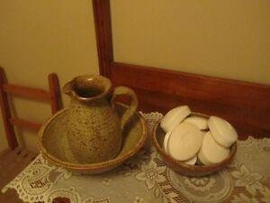 Bol et Vase  céramique de l'artisan Guy de Pelteau