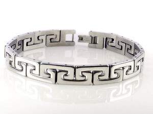 New Silver Men's Cool Stainless Steel Chain Bracelet Link Bangle Wristband