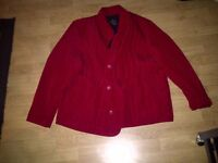 Women's size 3X red quilted button front winter jacket