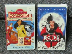 Disney VCR tapes, still in original packaging