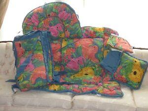 Brand New 6 Piece Bedding Crib Set Animal Print