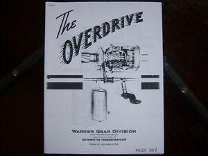 Borg Warner overdrive instruction manual