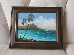Peinture à l'huile scène d'Hawaii Oahu Hawaiian oil painting