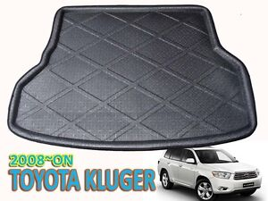 CAR TRUNK BOOT MAT LINER TOYOTA KLUGER 2008 ON BLACK CARGO MAT FIT HIGHLANDER