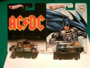Hot Wheels AC/DC Custom Convoy and Batman Panel 1:64 Diecast