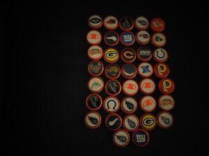 37 Budweiser NFL Bottle Caps