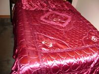 Burgundy Bed Spread