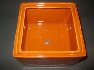 "BRAND NEW Large  Orange Porcelain Trinket Box 8"" X 8"" MINT Windsor Region Ontario image 4"