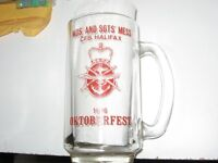 GLASS OKTOBERFEST MUG 1976 WO/SGT'S MESS CFB HALIFAX