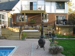 DECKS,  ADDITIONS, RENOVATIONS, & WD. FENCING: 35 yrs experience Belleville Belleville Area image 3