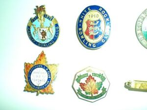 LAPEL PINS  FROM THE 20s AND 30s LAWN BOWLING, TENNIS CLUBS Kitchener / Waterloo Kitchener Area image 4