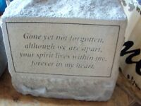 Gone but not forgotten URN and stone