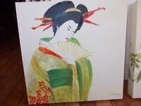 Oriental - Geisha Girl - Pair of 2 -Canvas Art