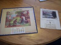 Pair of vintage Kingston Ontario calendars, 1949 and 1956