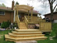 DECKS,  ADDITIONS, RENOVATIONS, & WD. FENCING: 35 yrs experience