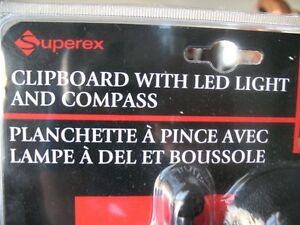 Clipboard with LED Light & Compass Peterborough Peterborough Area image 3