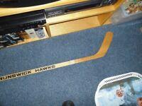 Original New Brunswick Hawks Souvenir Hockey Stick