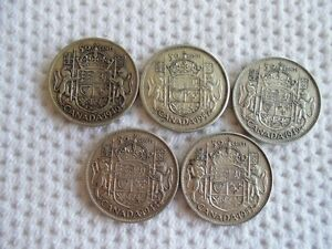 Old Canadian Silver Half Dollars