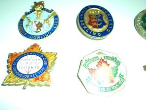 LAPEL PINS  FROM THE 20s AND 30s LAWN BOWLING, TENNIS CLUBS Kitchener / Waterloo Kitchener Area image 3