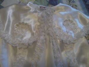 GORGEOUS SATIN AND LACE BAPTISIMAL OUTFIT Cornwall Ontario image 1