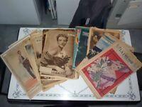 lot de 91 rotogravures antique 1928 1940 La Presse La Patrie