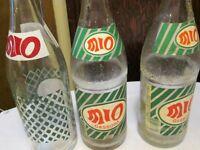 Old rare Mio soda bottles