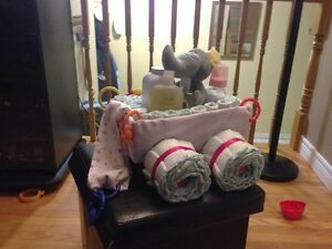 Handmade shower gifts/diaper cakes/kids gifts/tutu/crochet hats